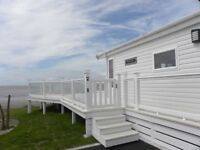 Sited Luxury Lodge, Seafront Pitch, Large Wraparound Decking, Stunning Views. Nr Pendine West Wales