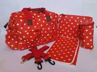 New Changing Bag - Red Polka Dot