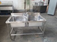 commercial stainless steel large double bowl sink for restaurant catering 1400mm for restaurant