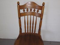 Solid oak, 4 x dinning chairs