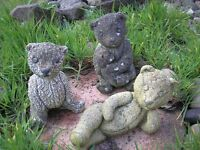 Group of Teddy Stone Ornaments