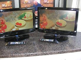 """TEVION 19"""" LCD TV X 2"""