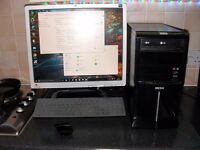 Intel I3, Asus Motherboard, 500Gb, 4GB Ram ,Graphics Card HDMI, Wireless Mouse + Keyboard windows 10