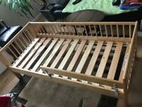 Children Bed Frame With Guard Rail.