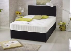 BRAND NEW ORTHOPEDIC DIVAN BED SET + MATTRESS + HEADBOARD SIZE 3FT 4FT6 Double 5FT King