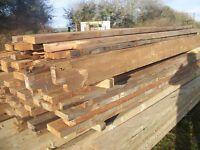 reclaimed pine beams, joists, floorboards