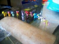 Collection of My Little Pony Figures.