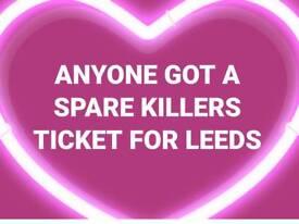 The killers Leeds gig