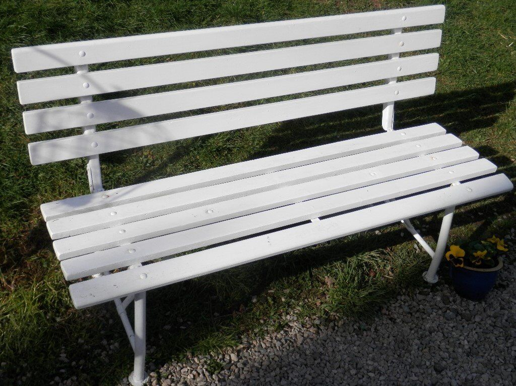 Railway station style wooden garden bench   seats 3Railway station style wooden garden bench   seats 3   in Winkleigh  . Outdoor Bench Seats Gumtree. Home Design Ideas