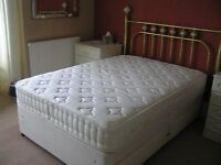 Large Double Bed with Mattress and Head Board
