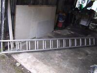 12 foot double extending aluminium ladders.