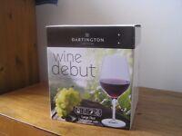 Dartington crystal wine glasses x 4 (large red)
