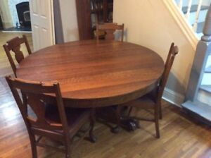 Antique clawfoot dining table