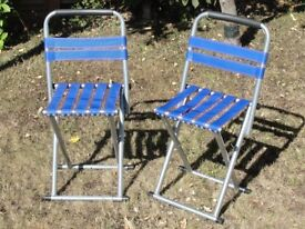 Light weight folding chairs suitable for picnics, fishing, beach.