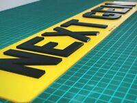 4D NEXT GEN LASER CUT NUMBER PLATES - Free Fixing Kit