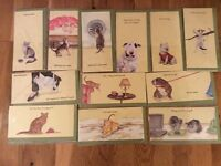 Job Lot 23 Greeting cards cellophane wrapped