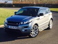 2014 RANGE ROVER EVOQUE DYNAMIC RED LEATHER V LOW MILES PAN ROOF FSH SIDE STEPS FSH PX SWAP