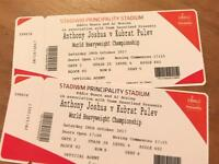 Anthony Joshua V Kubrat Pulev tickets X2