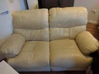 2 Seater Leather Recliner Sofa Collection Only Croydon South London