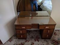 2 Antique Matching Wardrobes and Dressing Table with Mirror FOR SALE £120