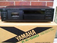 1997 HIGH END AUDIOPHILE YAMAHA KX-690 CASSETTE DECK BOXED UNUSED AS NEW