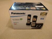 A pair of Panasonic cordless handsets with answer phone