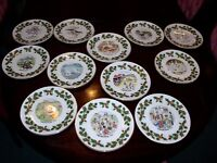 """COMPLETE SET OF """"12 DAYS OF CHRISTMAS"""" DECORATIVE PLATES BY ROYAL GRAFTON- RARE"""