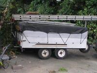 four wheeled trailer + extras