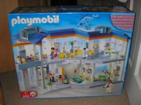 Play Mobil Hospital, Helicopter, Ambulance & Emergency Vehicles