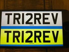 TREV TREVOR PRIVATE NUMBER PLATE ON RETENTION READY TO GO ON CAR
