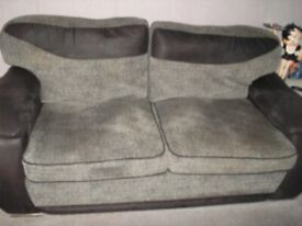 3 AND 2 SEATER SETTEES PLUS POUFFEE