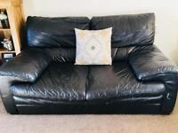 2 & 3 Leather seater sofas