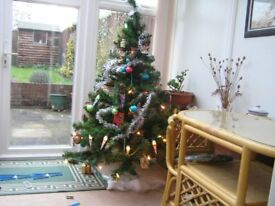 5 ft Christmas Tree and some decorations