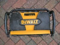 DeWalt DW911 Work Site Radio with battery used working. Built in charger