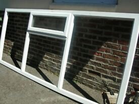 White upvc units with double glazed units x 2