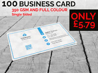 Amazing offer!!! 100 Printed Business card £5.79 only !!!