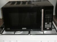 black,delonghi microwave, toaster and kettle