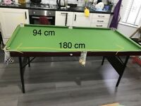 Snooker table for sale.