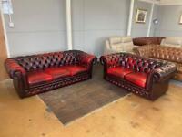 Ox blood Thomas Lloyd sofas