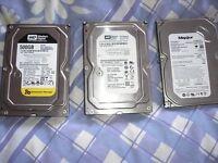 Hard drives barley used