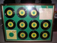 LARGE SUN RECORDS FRAME GLASS FRONTED JERRY LEE LEWIS ETC