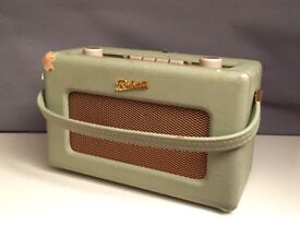 Roberts Revival RD60 Retro DAB/FM Portable Radio in Duck Egg blue/green w/ AC adapter + Batteries