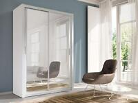 Brand New CHELSEA 2 DOOR GERMAN SLIDING Wardrobe with Mirror