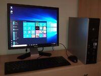"""HP Windows 10 Pro PC Computer/WIFI/2GB RAM/160GB/19""""Monitor"""