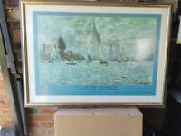 3 Framed Scenic Prints including prints by Paul Simmons & Claude Monet