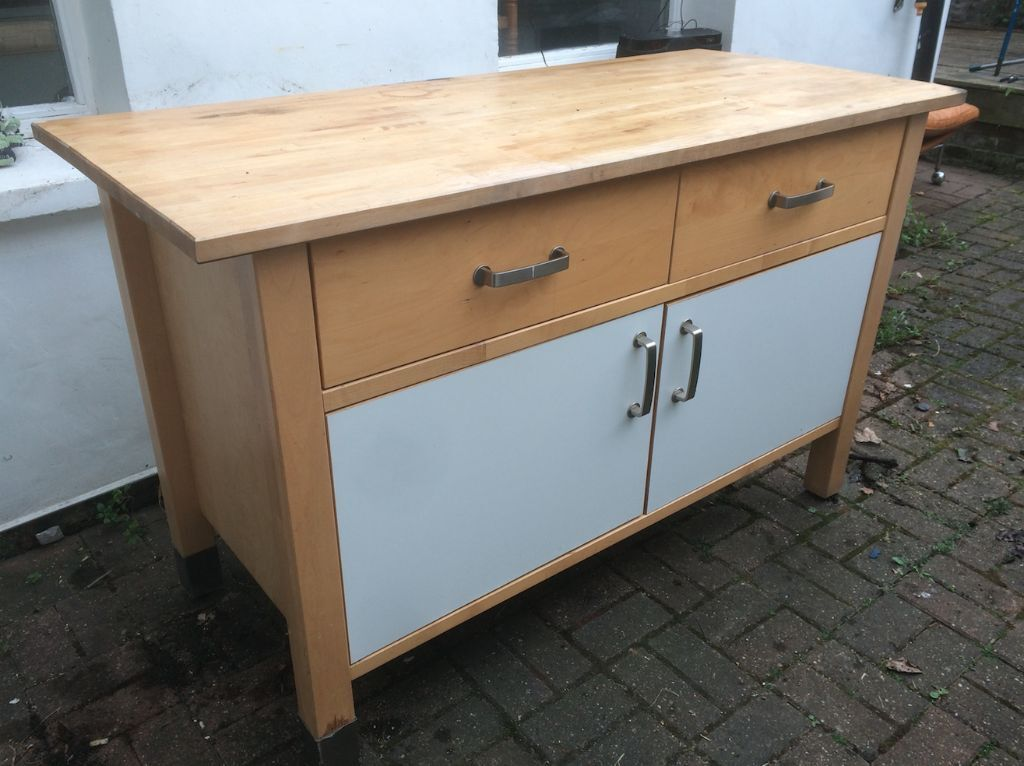 Ikea Varde Freestanding Kitchen Unit And Worktop Drawers Cupboard