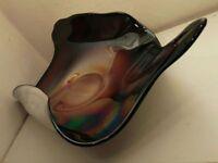 Iridescent dichroic glass trinket plate