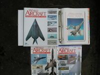 WORLD AIRCRAFT INFORMATION FILES - SET and 12 FOLDERS - £175