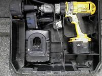 Dewalt 12 v drill with 3 batteries + charger