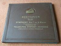 78rpm Boxed Set Beethoven Symphony No 7